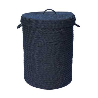 """Simply Home Solid Hamper with Lid - Navy, 30""""H - AllModern"""
