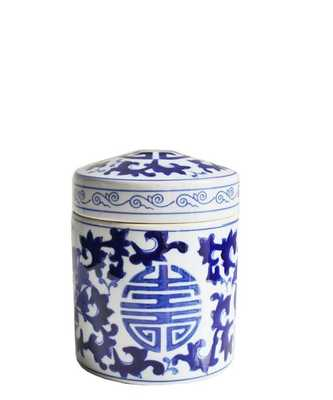 Blue & White Tall Porcelain Box - High Street Market