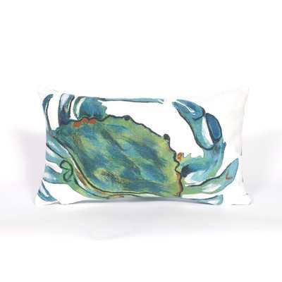 Visions III Blue Crab Lumbar Pillow / insert incldued - Wayfair