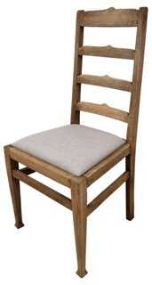 Antique Oak Ladder-Back Chair - One Kings Lane