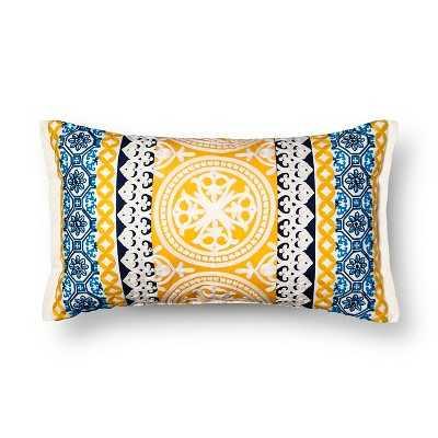 Oversized Lumbar Embroidered Global Throw Pillow – Threshold™ - Target