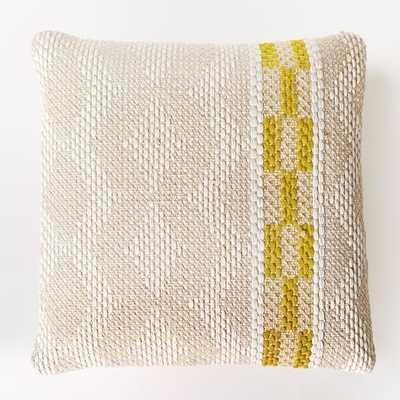 "Diamond Color Stripe Pillow Cover-20""sq. - Citrus Yellow- Insert sold separately - West Elm"
