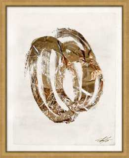 """Filicia, Shut the Door Have Some Gold I - 17.25"""" x 21.25"""" - Framed - One Kings Lane"""