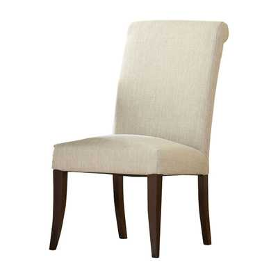 London Rolled-Back Side Chair - Taylor Linen - Birch Lane
