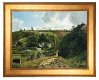 """Pissarro, Jalais Hill, Pontoise, 26.75"""" x 21.75"""" Framed - One Kings Lane"""
