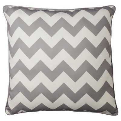Oversized Chevron Toss Pillow - Gray - 24x24 - With Insert - Target