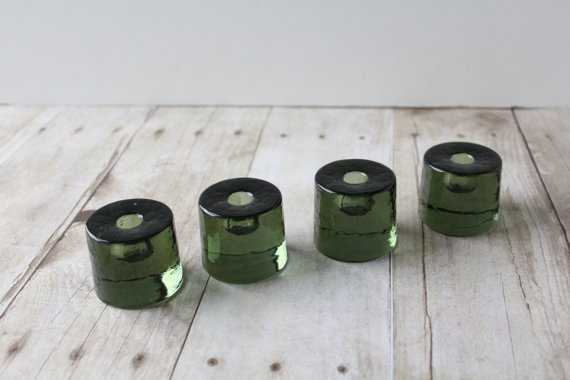 Vintage Round Candle Holders (Set of 4) - Etsy