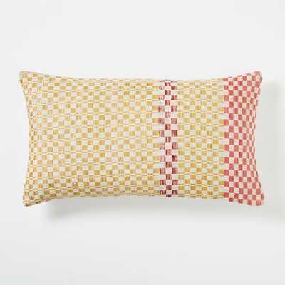 "Dobby Dot Pillow Cover - Horseradish- 12""w x 21""l.- Insert sold separately - West Elm"