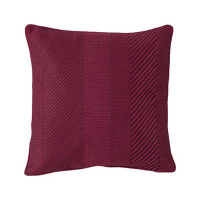 "Ziggurat Geo Embroidered Decorative Throw Pillow - 16""x16"" - Polyester fill - AllModern"