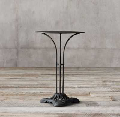 20TH C. FRENCH TRIPOD BRASSERIE COCKTAIL TABLE - RH
