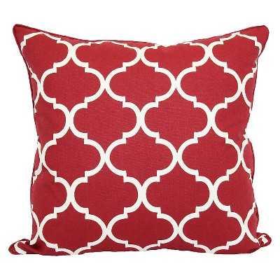"Threshold™ Oversized Lattice Pillow-Red-24""x24""-Insert - Target"