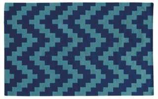 Matrix 4714c Rug, Blue/Blue - One Kings Lane