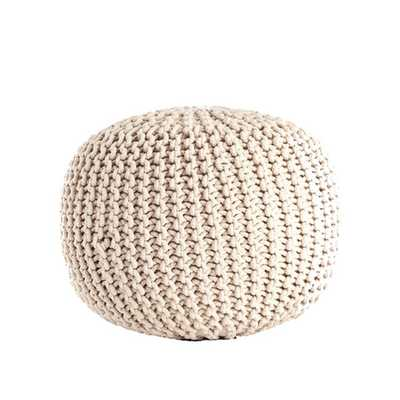 Cotton Twisted Rope Pouf - Overstock