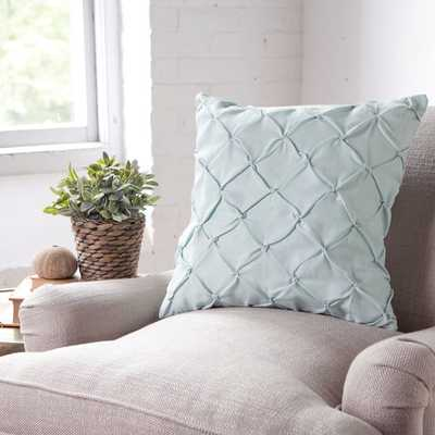 """Alda Pintucked 18"""" Pillow Cover - Blue - Without insert - Wayfair"""