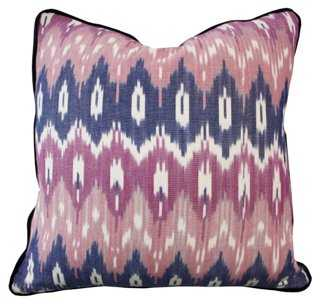 Southwest 20x20 Cotton Pillow, Pink - feather/down insert - One Kings Lane