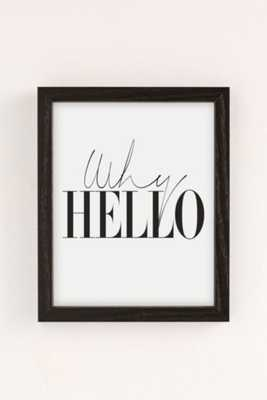Letters On Love Why Hello Art Print/Framed - Urban Outfitters
