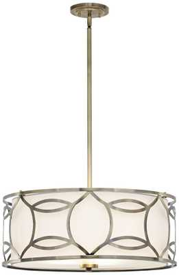 "Roxbury 22"" Wide Antique Brass Pendant Light - Lamps Plus"