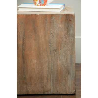 Berlin Tan Square Side Table - Overstock