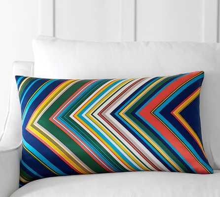 Tamara Stripe Lumbar Pillow Cover - 16x26, No Insert - Pottery Barn