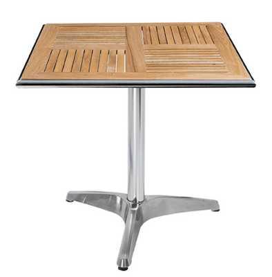 Sonnet Square Table - Solid Wood Slat Top - stores.advancedinteriordesigns.com