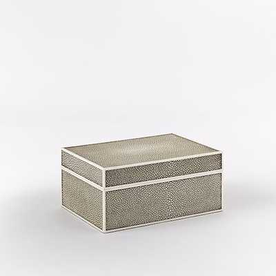 Faux Shagreen Box - West Elm