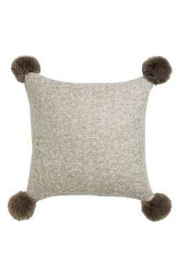 """Brushed Accent Pillow with Pompoms - 18"""" x 18"""" - polyester fill - Nordstrom"""