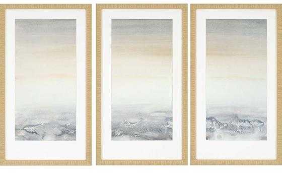 "Sable Island Framed Wall Art SET OF 3-32""H x 18""W x 2""D each - Home Decorators"