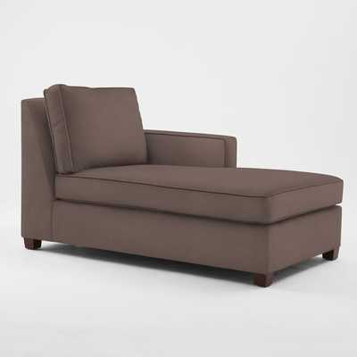 Henry Right-Arm Chaise - Linen Weave, Timber - West Elm
