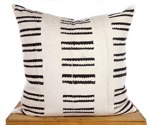 20 inch White African Mud Cloth Pillow Cover - Etsy