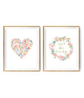 Flower Nursery Print Set - 8.5x11 - Unframed - Etsy
