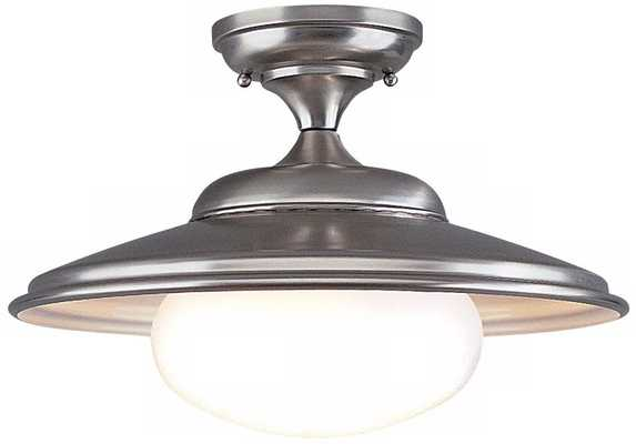"""Independence Collection 16"""" Wide Satin Nickel Ceiling Light - Lamps Plus"""
