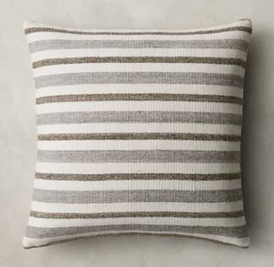 """DOUBLE PINSTRIPE PILLOW COVER - 22"""". SQ., Insert - RH"""