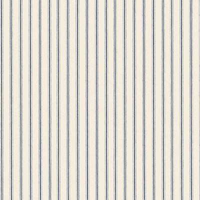 Vintage Ticking Stripe Navy Fabric - Ballard Designs