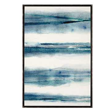 Washed Pattern 2- 25.5''W x 37.5''H- Framed - Z Gallerie