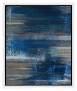 "Blue Abstract 21.5"" x 25.5""  framed - One Kings Lane"
