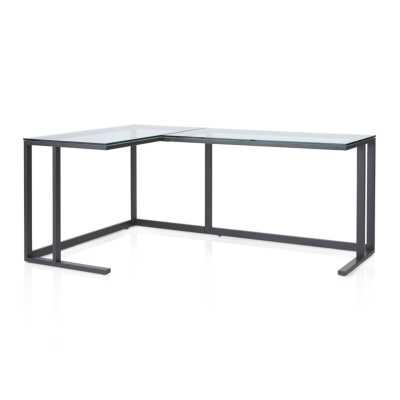 Pilsen Graphite Corner Desk - Crate and Barrel