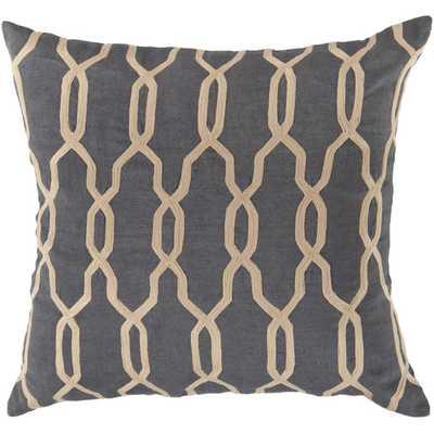"""Glamorous Geometric Linen Throw Pillow-18"""" -Polyester insert - AllModern"""