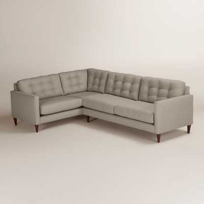 Textured Woven Ryker Right-Facing Upholstered Sectional - World Market/Cost Plus