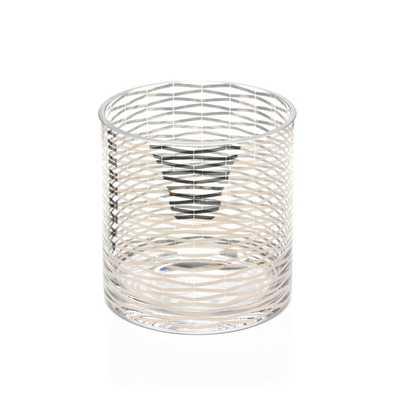 SILVER RIBBONS GLASS VASE - Dwell Studio