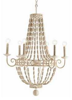 Louis Small 6-Bulb Chandelier, Off-White - One Kings Lane
