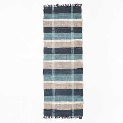 Mid-Century Rustic Cotton Plaid Rug - West Elm