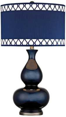 Dimond Heathfield Navy Blue Glass Table Lamp - Lamps Plus