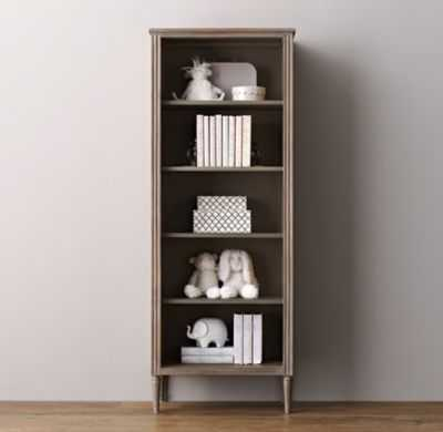 marcelle tall bookcase - antique grey - RH Baby & Child