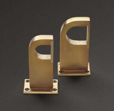 BAYONNE SOLID BRASS CENTER BRACKET - RH Modern