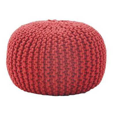 Rope Knit Pouf Ottoman - Wayfair