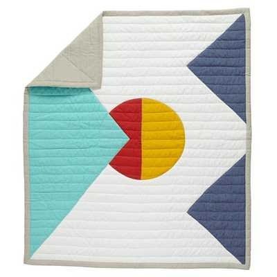 Polygon Baby Quilt - Land of Nod