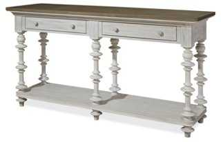Torley Console, White - One Kings Lane