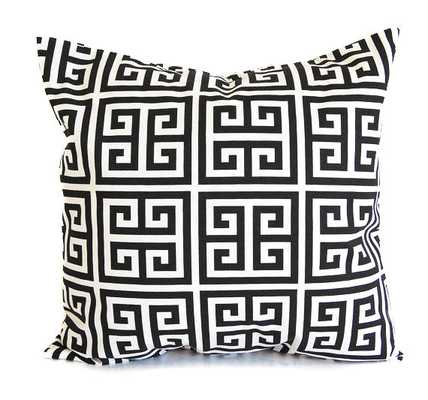 """Black throw pillow cushion - 20"""" x 20"""" - Insert not included - Etsy"""