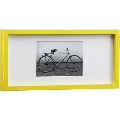 Rectangular yellow hi-gloss 4x6 picture frame - CB2