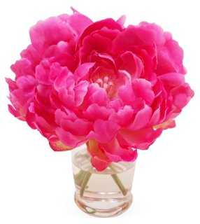 "7"" Peony in Vase, Faux - One Kings Lane"